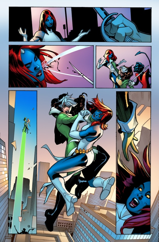 Mystique, Rogue and Nightcrawler? Classic Xmen action.