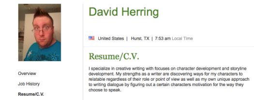 If you're looking for a writer with a strong desire and penchant to post ridiculous things like Racist videos, homophobic rants, David Herring is your guy.